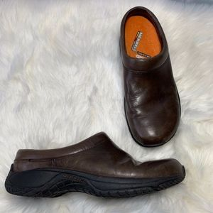 Merrell Encore Groove Bespoke Brown Clogs Size 8.5